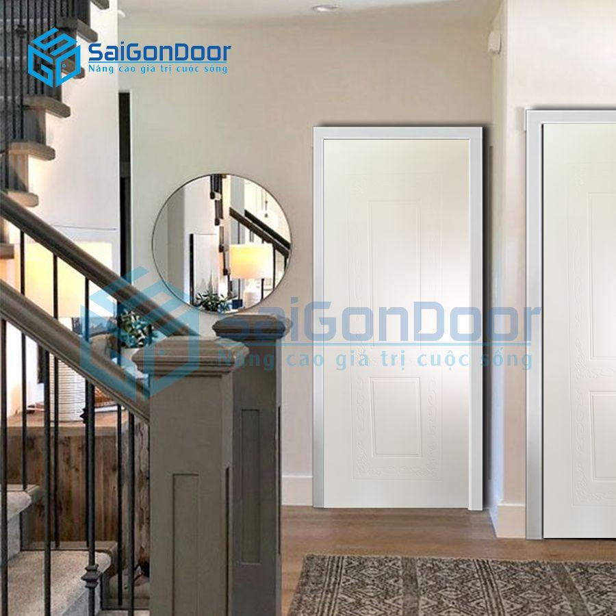 Cửa nhà vệ sinh với màu trắng trang nhã dễ vệ sinh với lớp sơn PU SYA.348-A05